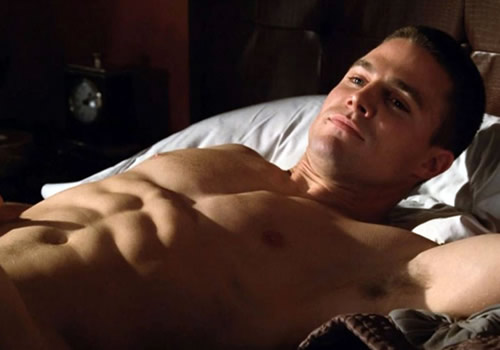 Stephen Amell shirtless in HUNG