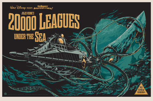 20,000 Leagues Under the Sea - Mondo poster