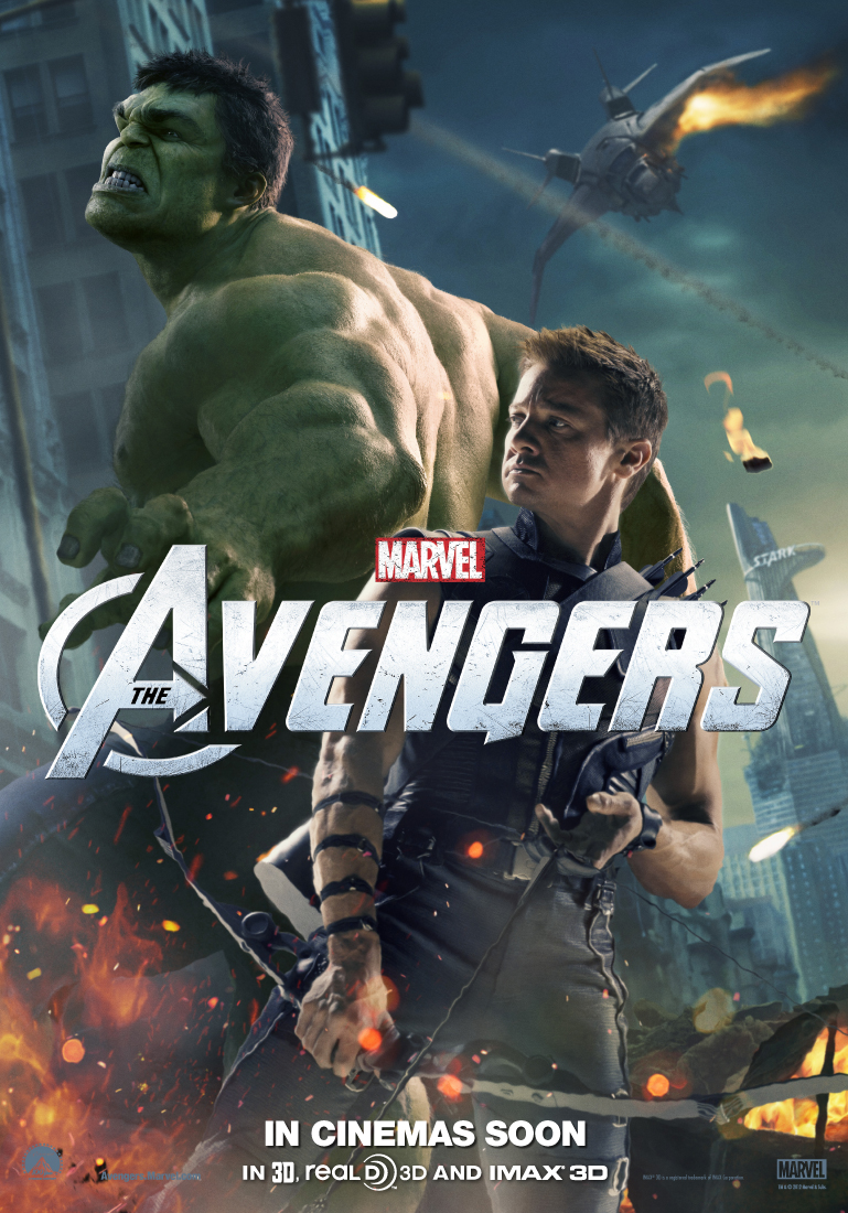 The Avengers poster - Hawkeye and Hulk
