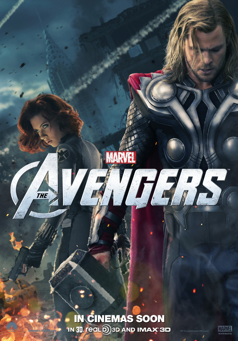 The Avengers poster - Thor and Black Widow