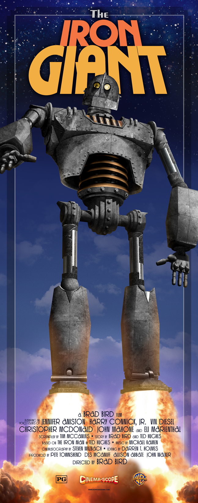 The Iron Giant poster - Hopko Designs