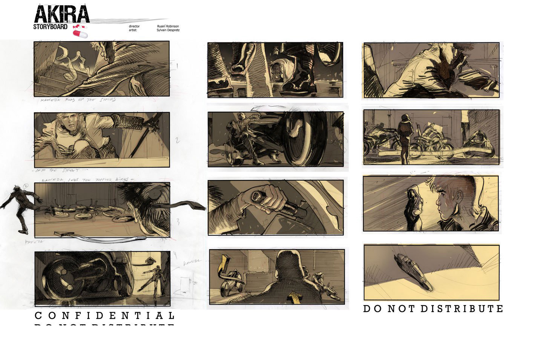 Akira (Live Action) Storyboard - Sylvain Despretz