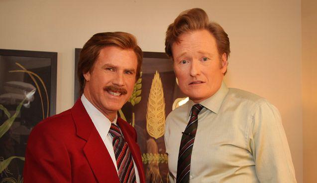 Ron Burgundy (Will Ferrell) and Conan O'Brien announce ANCHORMAN sequel