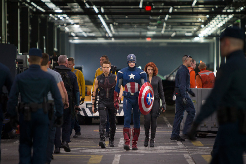 The Avengers (2012) - Hawkeye, Captain America, Black Widow