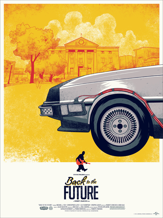 Back to the Future - Mondo poster