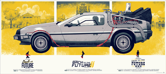 Back to the Future Trilogy - Monod posters
