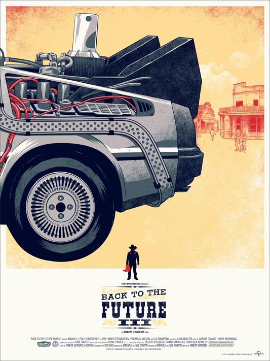 Back to the Future 3 - Mondo poster
