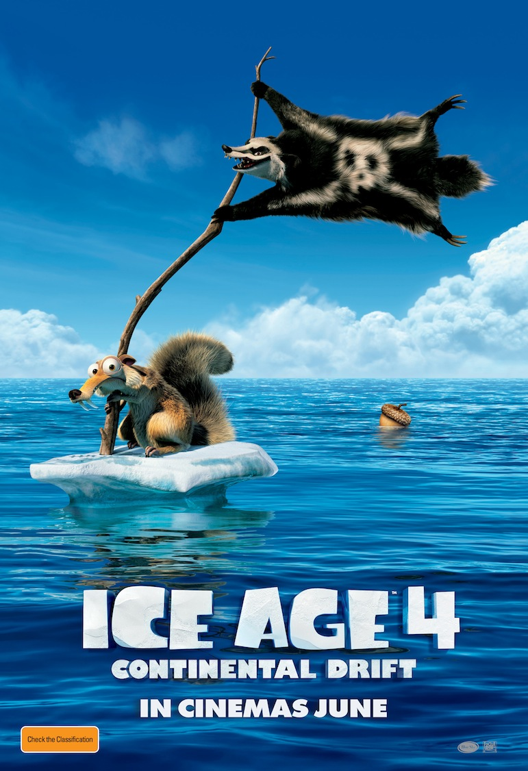 Ice Age 4: Continental Drift poster - Australia