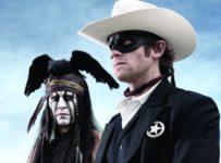 The Lone Ranger - Tonto (Johnny Depp) and John Reid (Armie Hammer)