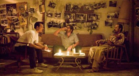 THE RUM DIARY - Paul (Johnny Depp), Sala (Michael Rispoli) and Moberg (Giovanni Ribisi)