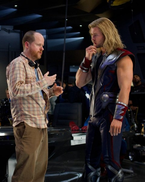 The Avengers - Joss Whedon and Chris Hemsworth
