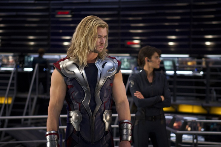 The Avengers (2012) - Thor (Chris Hemsworth) and Maria Hill (Cobie Smulders)