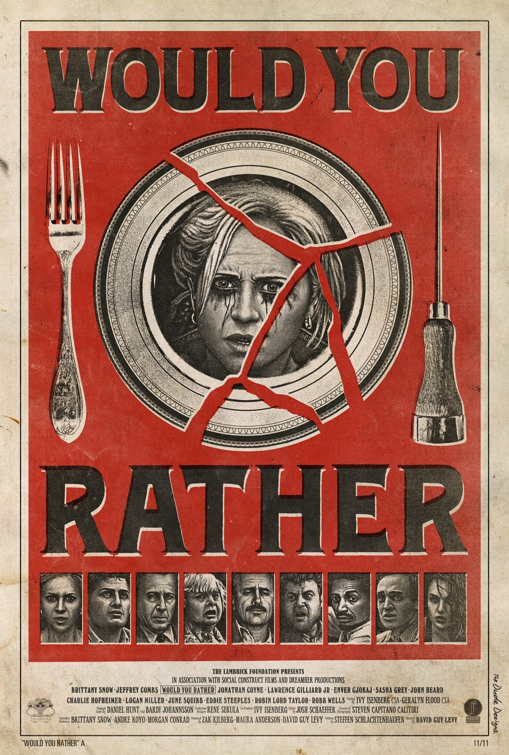 Would You Rather poster - Tom Hodge