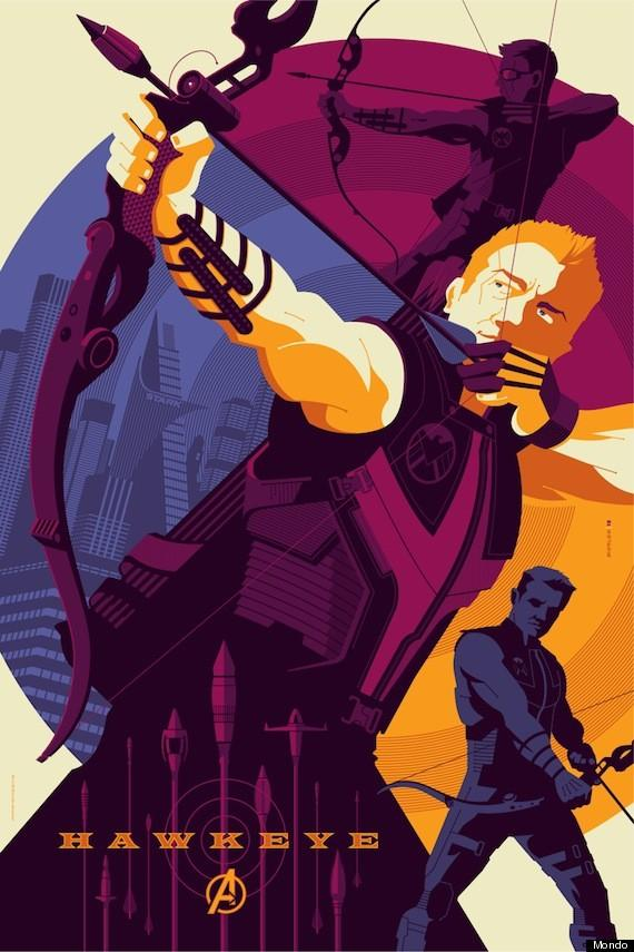 Avengers Mondo Hawkeye Poster