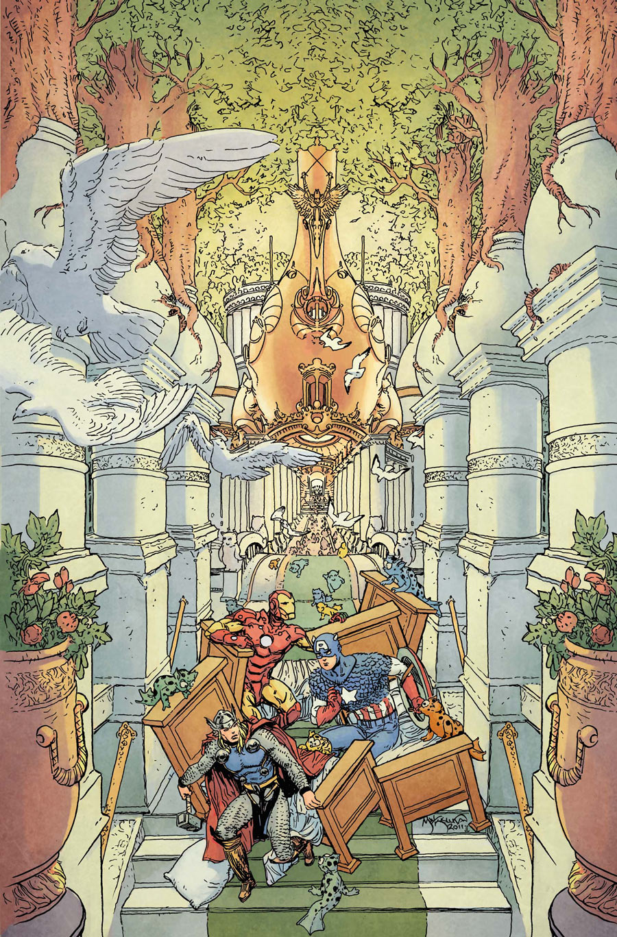 Fantastic Four #605 (2012) - Marvel. Avengers Art Appreciation Variant Cover By Michael Kaluta