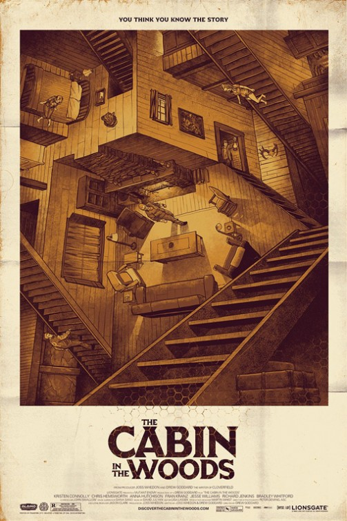 Cabin in the Woods poster - Mondo (Phantom City Creative)