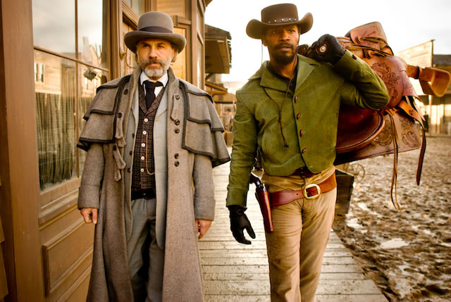 Django Unchained - Christoph Waltz and Jamie Foxx