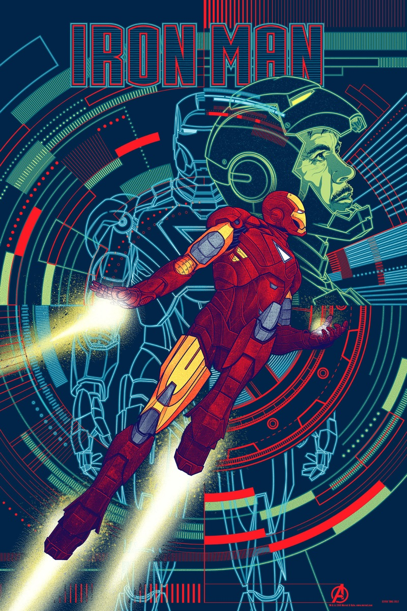 Iron Man poster - Mondo Variant