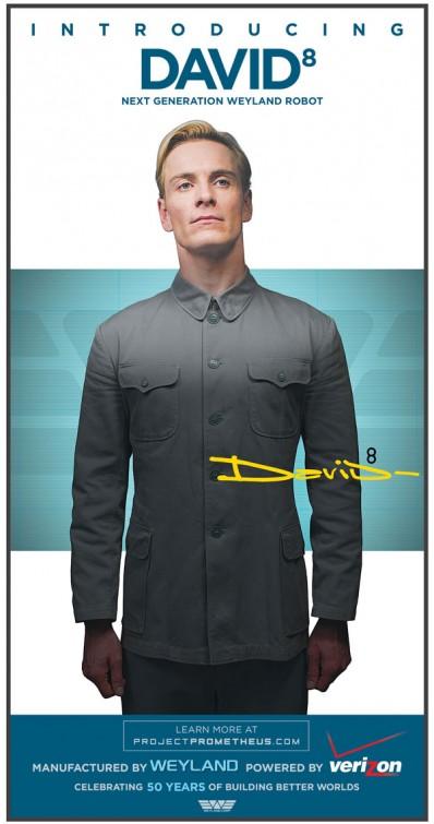 Prometheus David8 - Michael Fassbender poster