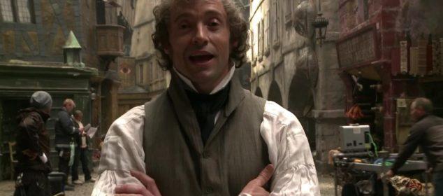 Hugh Jackman on the set of Les Misérables