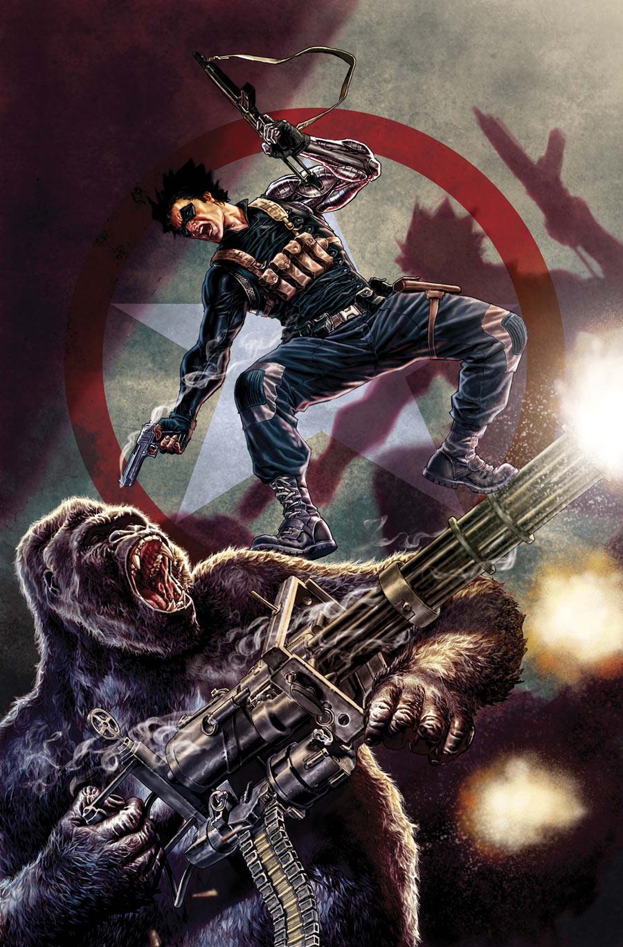 Winter Soldier #4 - Cover By Lee Bermejo