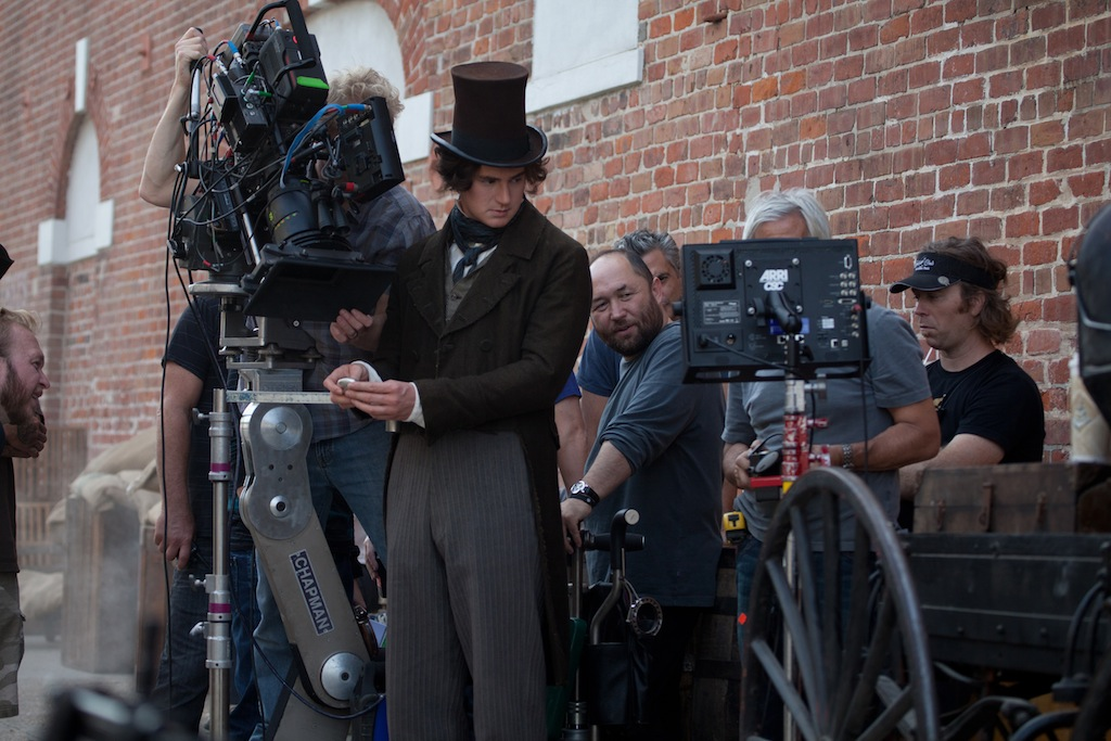 Abraham Lincoln: Vampire Hunter on set