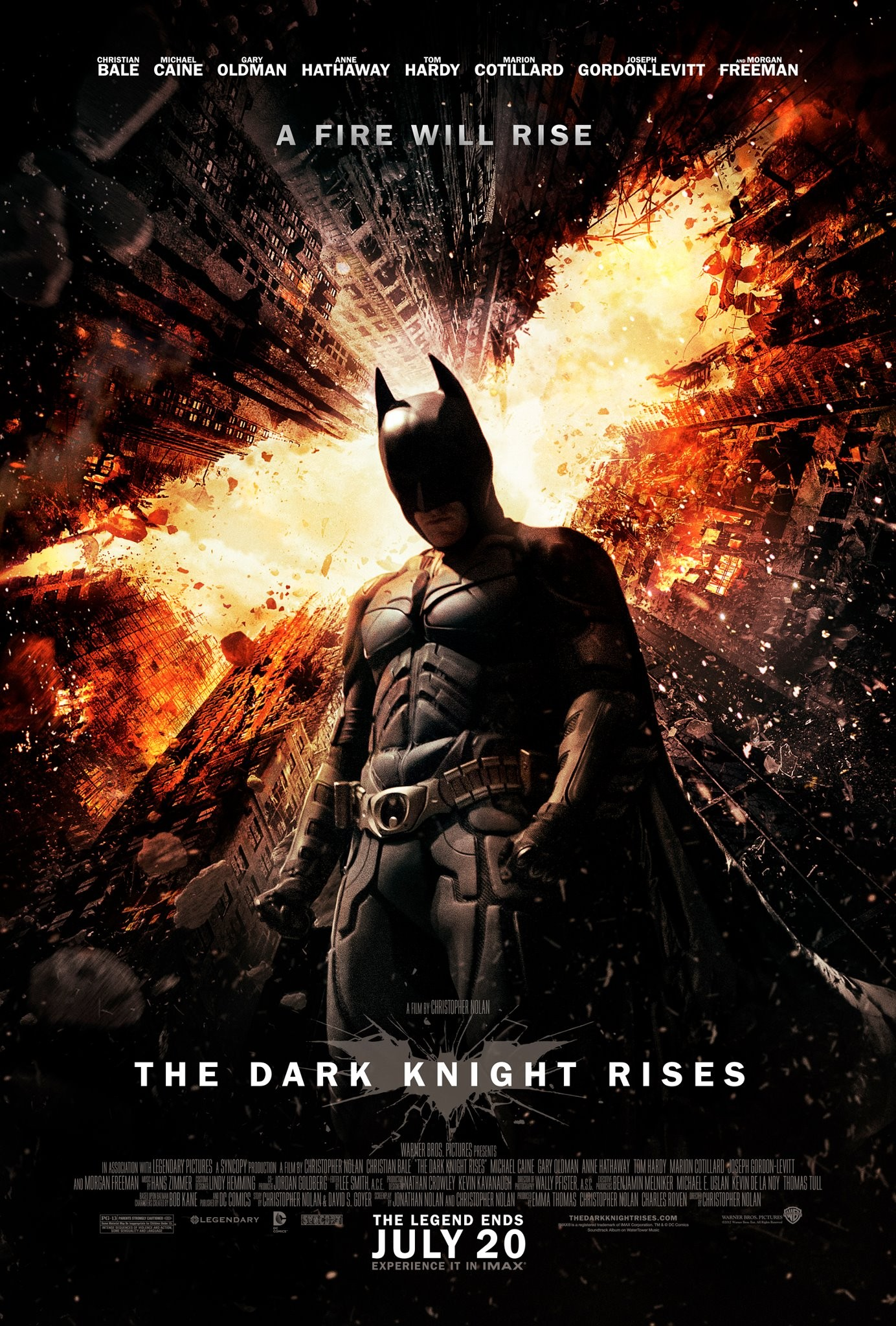 The Dark Knight Rises - A Fire Will Rise Poster