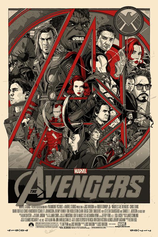 The Avengers - Mondo poster - Tyler Stout
