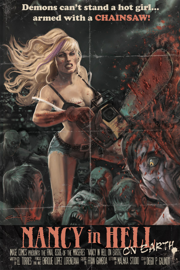 Nancy in Hell On Earth #4 (2012) - Image Comics. Art: Diego P. Galindo