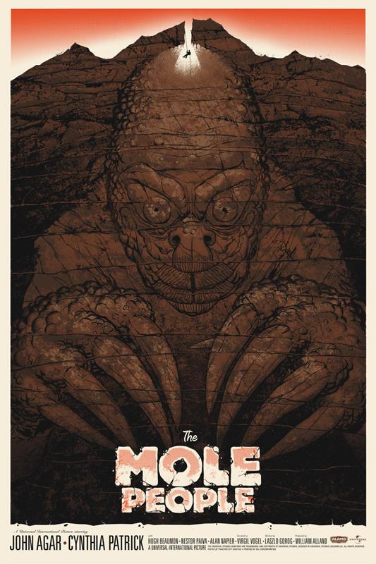 The Mole People - Mondo poster - Artist: Phantom City Creative