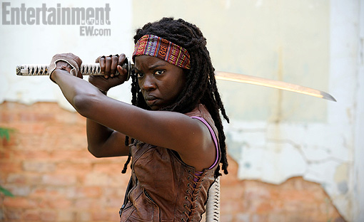 Michonne (Danai Gurira) on AMC's The Walking Dead (EW)