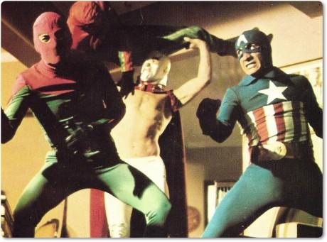 3 Dev Adam (3 Giant Men) - Spider-man, Captain America