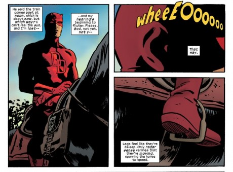 Daredevil #14 - Daredevil on a horse