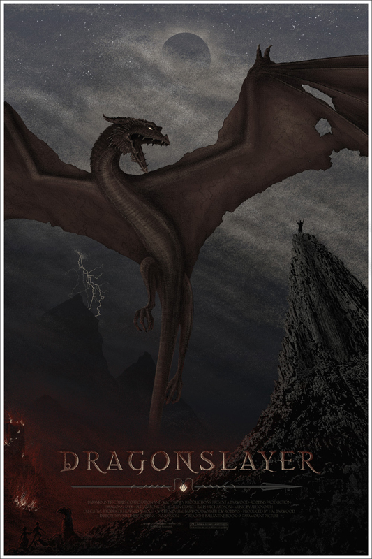 Dragonslayer - Mondo poster - JC Richard.