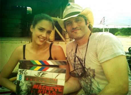 Machete Kills - Robert Rodriguez and Jessica Alba