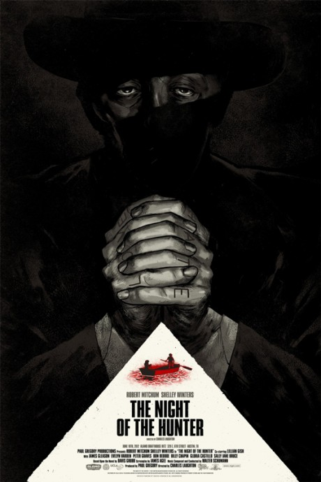 The Night of the Hunter - Mondo poster - Phantom City Creative