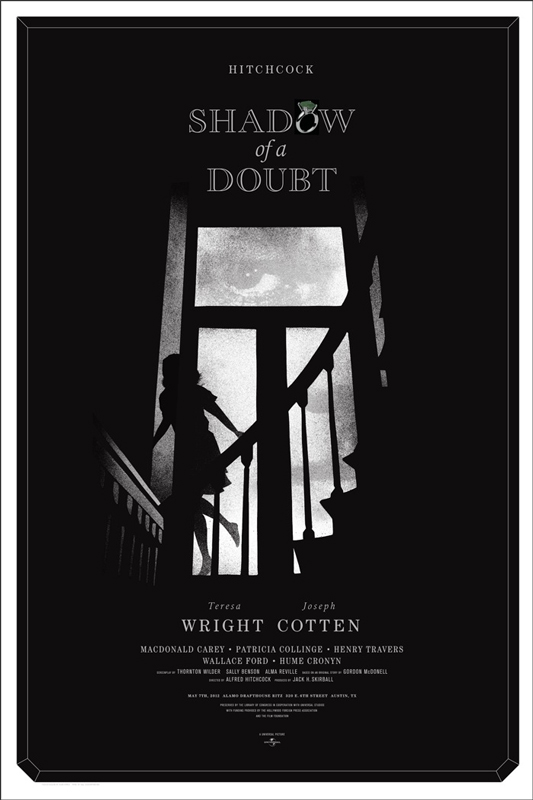 Shadow of a Doubt - Mondo poster - Alan Hynes