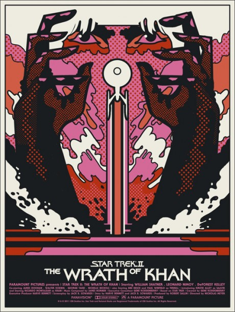 Star Trek II: The Wrath of Khan - Mondo poster - We Buy Your Kids
