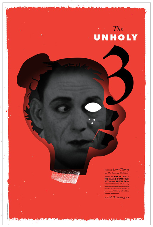 The Unholy Three - Mondo poster - Jeff Kleinsmith