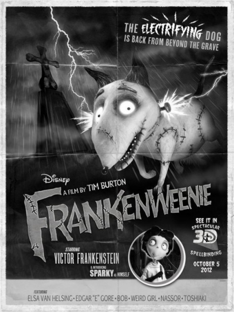Frankenweenie Comic-Con poster