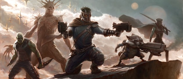 Guardians of the Galaxy film concept Art 2012