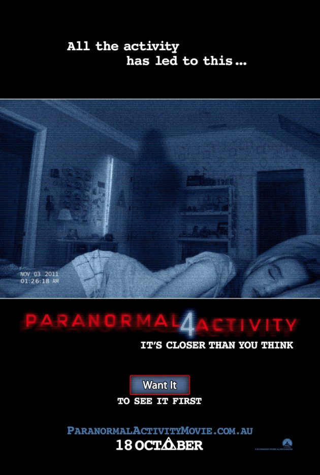 Paranormal Activity 4 - Teaser Poster Australia