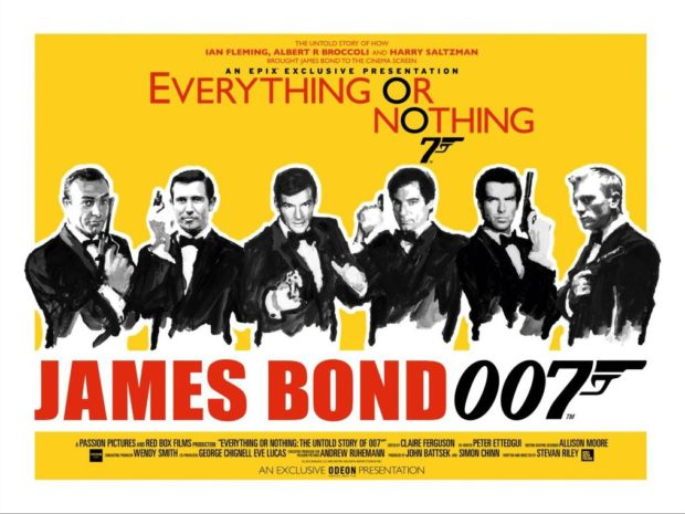 Everything or Nothing: The Untold Story of 007 Quad poster