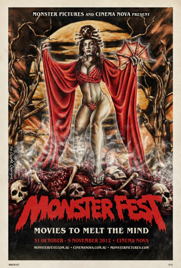 Monster Fest 2012 poster - Tom Hodge (The Dude Designs)