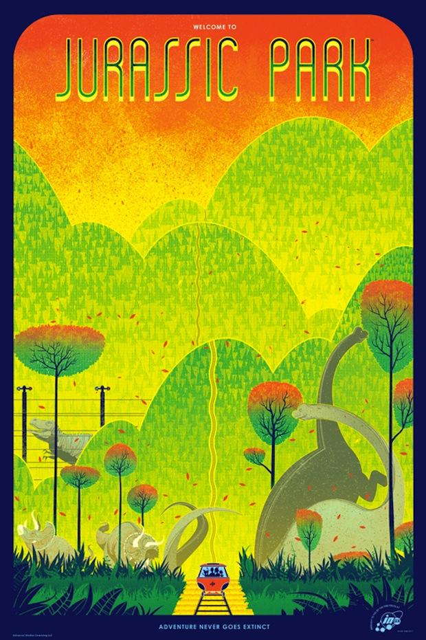 Jurassic Park - Kevin Tong Mondo poster