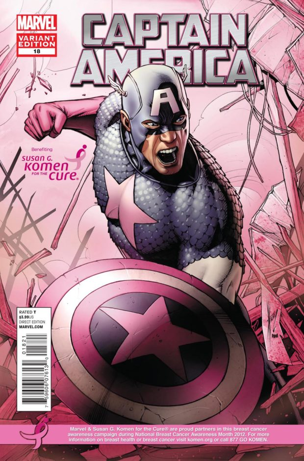 CAPTAIN AMERICA #18 KOMEN VARIANT by Dale Keown & Frank D'Armata [on sale 10/10]