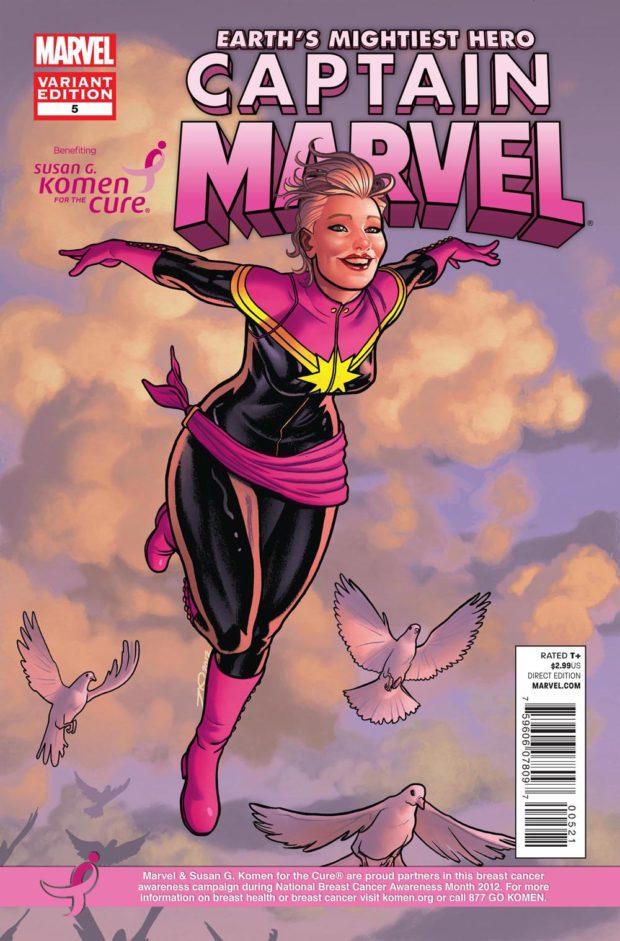 Captain Marvel 05 - Komen - Breast Cancer Awareness Month