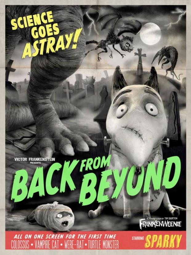 Frankenweenie Retro poster