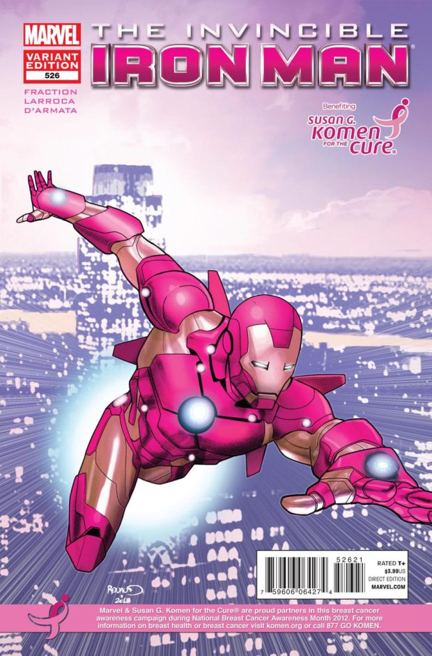 Invincible Iron Man - 526 - Komen - Breast Cancer Awareness Month
