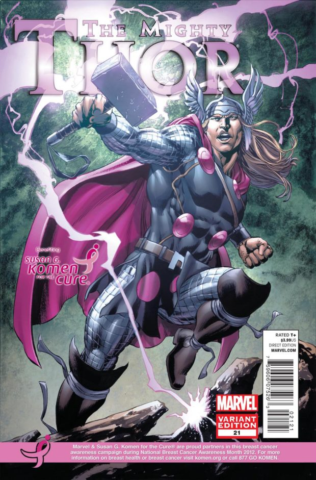 Mighty Thor - 21 - Komen - Breast Cancer Awareness Month